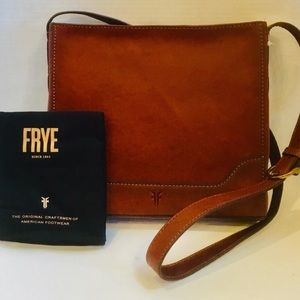 Authentic Frye Messenger Crossbody Leather Bag